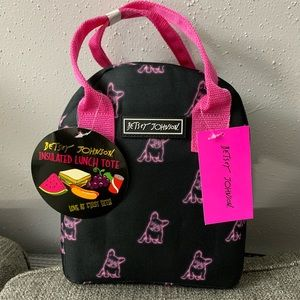 Betsey Johnson Frenchie Lunch Tote Bag NWT